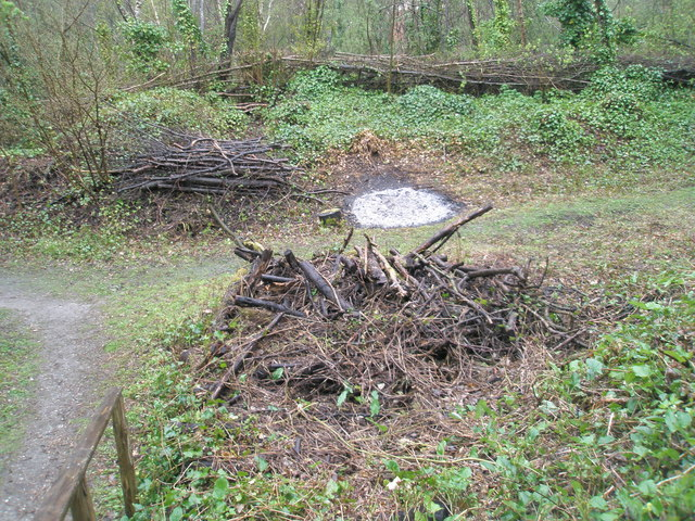 Bonfire site at Amberley Working Museum